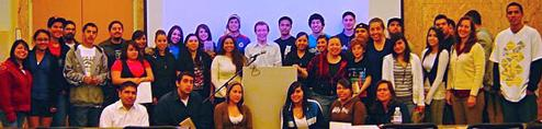 Group portrait of Puente class 2008 at Santa Clara U