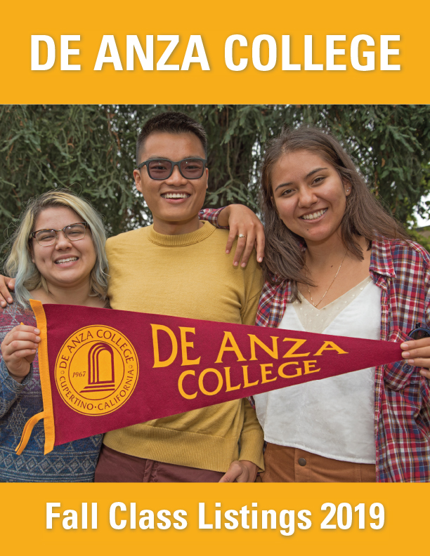 Fall Schedule Cover - students on campus with pennant