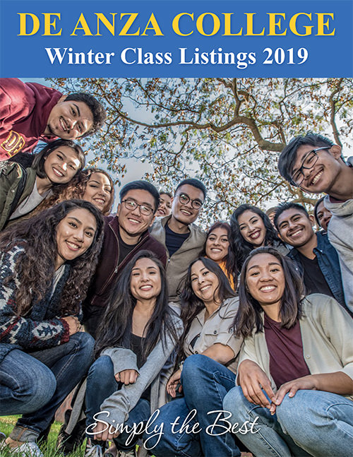 Winter Schedule Cover - students on campus