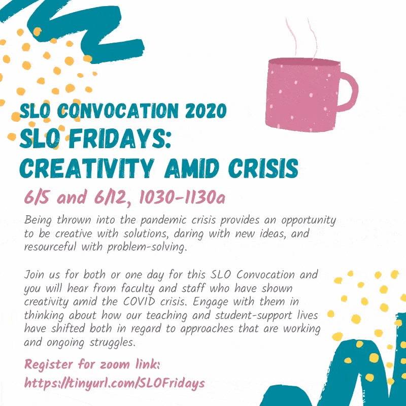 SLO Fridays with coffee cup