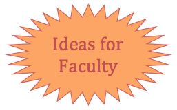 "Star with link for ""Ideas for Faculty"""