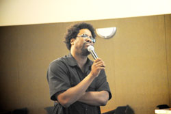 W. Kamau Bell gives a Social Commentary as part of the Sankofa Scholars Program Dialog