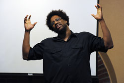 W. Kamau Bell gives a Social Commentary for the Sankofa Scholars Program
