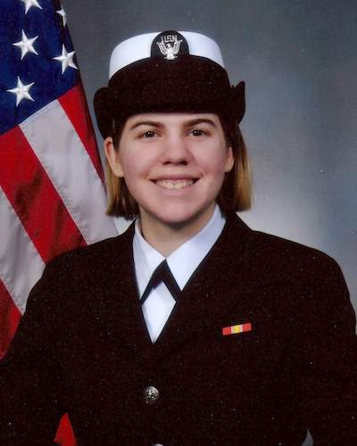 Racheal Gauley in uniform