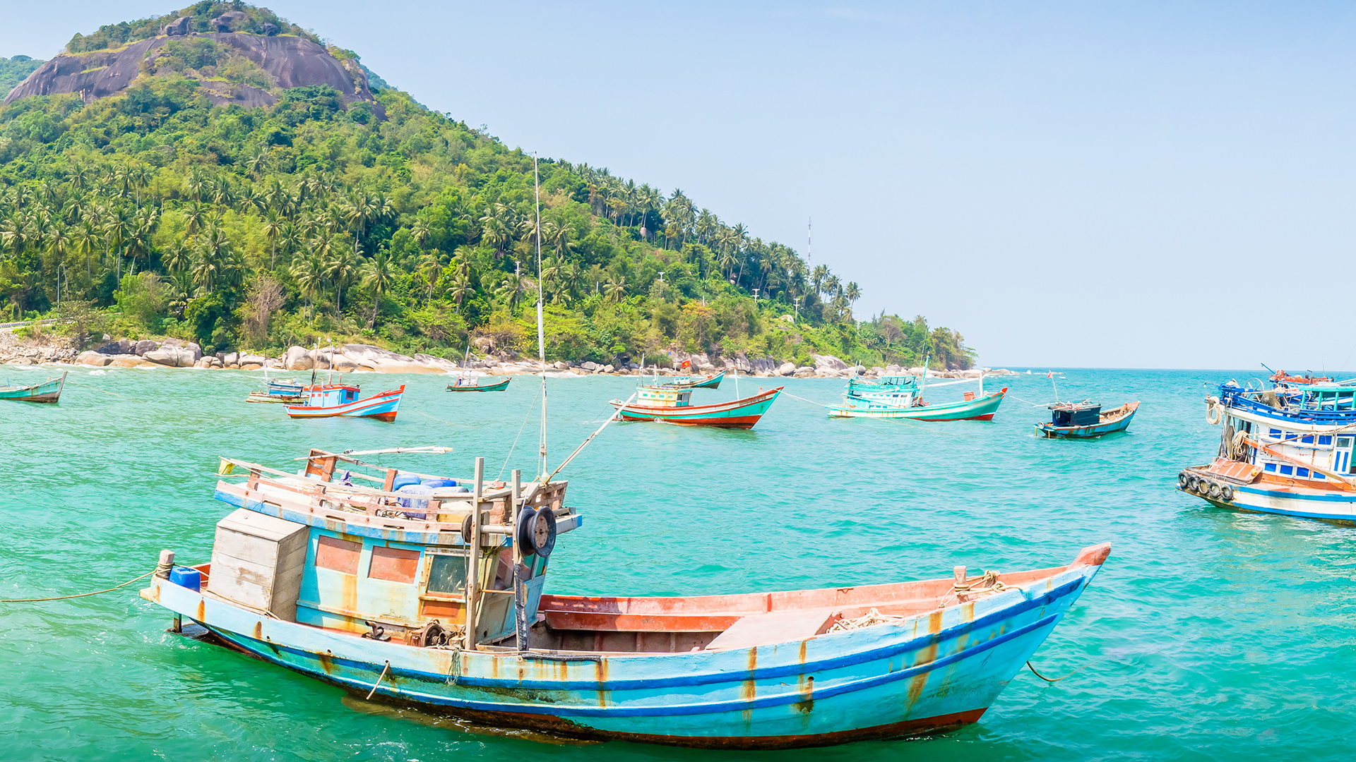 Fishing boats off the coast of Vietnam