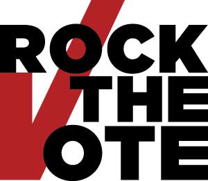 rock the vote logo and link