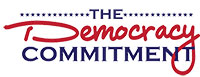 Democracy Commitment logo and link